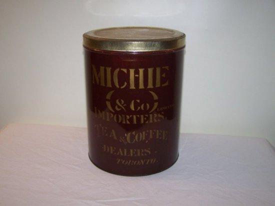 """MICHIE & CO IMPORTERS TEA & COFFEE TIN TORONTO, ON          7""""X 9"""""""