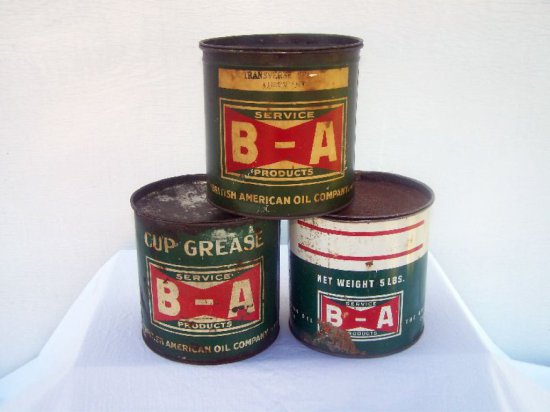 3 EARLY B-A BOWTIE  5 LB. GREASE CANS 1. TRANSVERSE LUBE