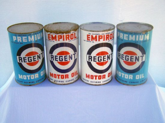 4 REGENT IMP. QT. CANS FULL-THIS ITEMS CONTAINS OIL & CANNOT BE SHIPPED ACR
