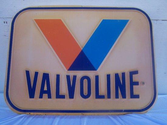"""VALVOLINE HEAVY PLASTIC SIGN 35""""X 47"""""""