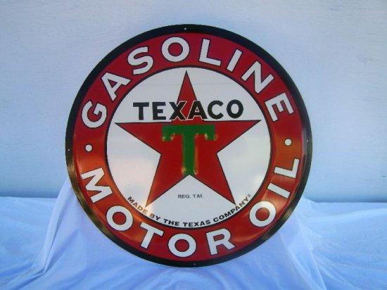"TEXACO QUALITY MOTOR OIL SIGN 24"" REPRO."
