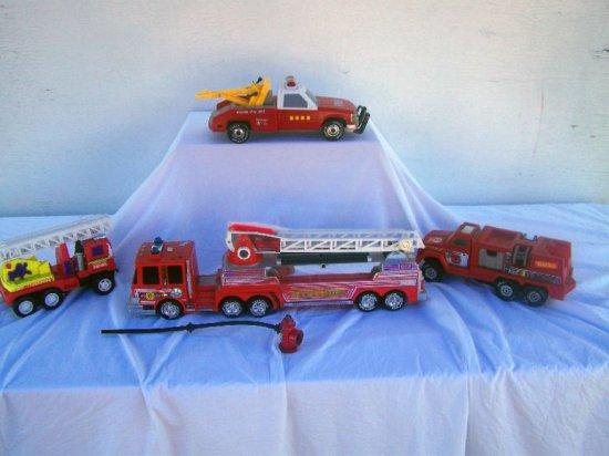 FIRE ITEMS LOT  1. BUDDY L HOOK & LADDER 1.TONKA #9 1. METRO CITY TOW 1. LA