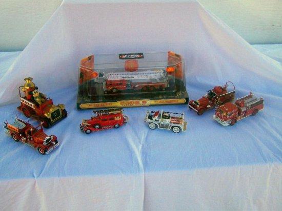 LOT OF 7 FIRE TRUCKS