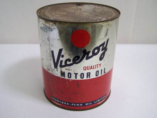 VICEROY IMP. GAL. RED BALL MOTOR OIL CAN