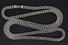 CHAIN: Gents 10kw square wheat link chain necklace; 5.99mmW x 6.19mmT x 34