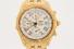 WATCH:  [1] 18KYG Breitling Crosswind Chronograph automatic watch with white dial, date, 3 subdials,