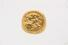 RING:  [1] 18 KYG ring set with a British 1927 Half Sovereign gold coin;  size 13;  38.0 grams