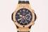 WATCH: Gents titanium & 18kr Hublot Big Bang chronograph diamond wristwatch; bezel w/ 114 rb dias, 1