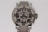 WATCH: Gents st.steel Aquanautic brand Cuda model chronograph wristwatch w/ diamond link bracelet, c