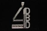 PENDANT: Gents 14kw DBD 4 Life or Death diamond pendant, 81 rb dias, 1.5mm to 2.5mm = est 2.82cttw,