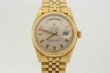WATCH:  [1] 18KYG Oyster Perpetual Day Date Gents President Rolex watch; model #1803, serial #343196