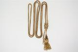 WATCH CHAIN / NECKLACE:  [1] 14KYG lariat watch chain (or may be worn as a necklace) is a Victorian