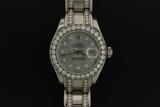 WATCH:  [1] 18KWG Rolex Lady's Masterpiece Datejust watch with mother-of-pearl dial & dia markers, d