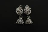 EARRINGS:  [1 pair] 14KWG earrings, each earring set with 43 baguette cut dia.s, TWA 1.50 cts, H/I,