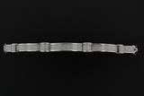 BRACELET: Gents 14kw invisible set diamond link bracelet, 922 sq prin dias, 1.5mm = est 18.44cttw, G
