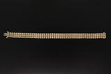 BRACELET: Gents 14ky diamond link bracelet, 147 rb dias, 2.2mm to 3.1mm = est 9.30cttw, Fair/H-J/SI1