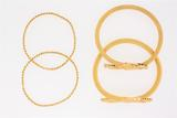 BRACELET:   [2] 18 KYG twisted rope bangle bracelets;  11.8 grams                 ; BRACELET:   [2]