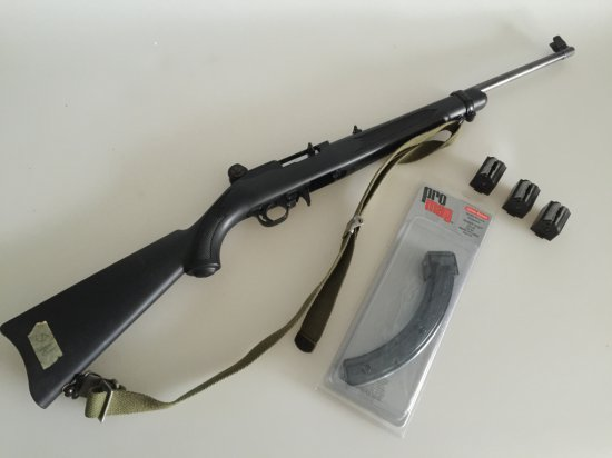 Ruger 10/22 22LR semiautomatic rifle Black synthetic