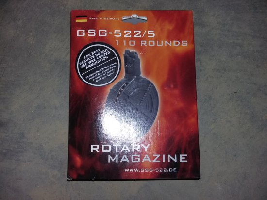 German Sport Guns GSG-522/5 Rotary Drum Magazine 110 rd. 22LR NIB
