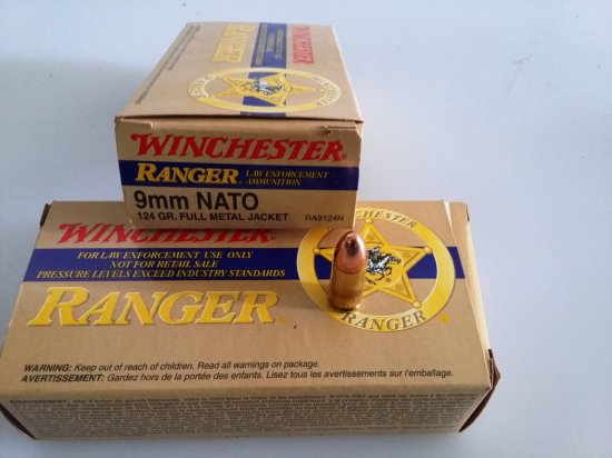 Winchester Ranger 9mm Ammunition