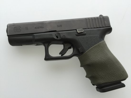 Glock 19 Semiautomatic pistol 9mm enhanced grip