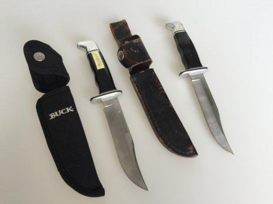 Buck Knives (2) w/sheaths