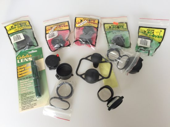 Large lot of Scope Lens Covers and Cleaning Pen
