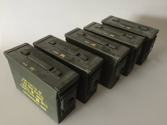 Lot of Five Ammo Cans