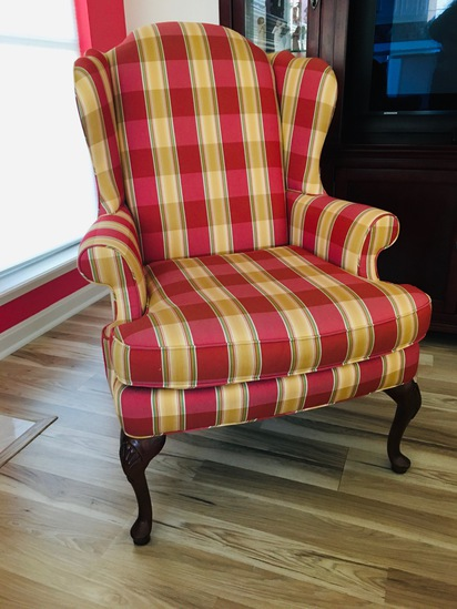 Sherrill Furniture Wingback Chair w/ Armcovers