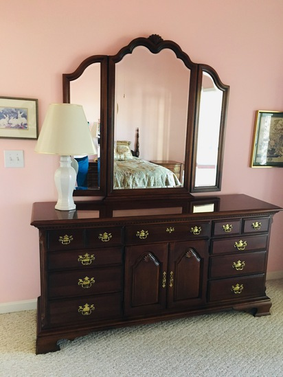 Bed #2 Dresser W/mirror And Chest
