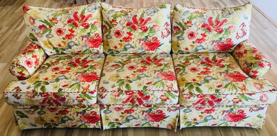 Floral 3 Cusioin Couch