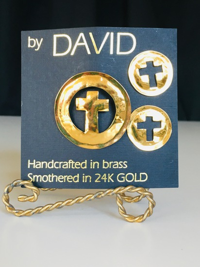 24 KT Gold Smothered over Brass Handcrafted by DAVID