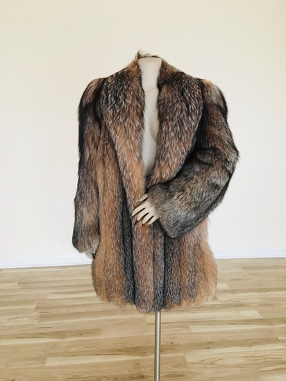 Vintage Silver Tip Fox Coat - Medium