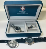 Men's Watches, Money Clip, Key ring, Reency Swiss Box