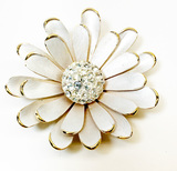 Park Lane? A Daisy Pin with Gold Metal Base and Center Rhinestones