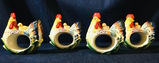 Fitz And Floyd - 4PC RICAMO NAPKIN RINGS Set #2