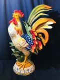 Fitz and Floyd LARGE ROOSTER Ricamo