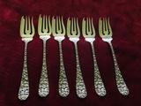 Baltimore Rose Sterling Silver DESSERT FORK - or Salad Fork 6 1/4