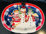 2007 Fitz and Floyd - FROSTY FRIENDS PLATTER - 19/2150