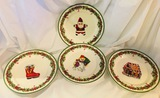 Christopher Radko - HOLICAY CELEBRATIONS TRADITIONS - 4 Salad Plates