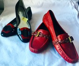 COACH Red Leather Loafers & Calvin Klein Ballet Flats 7 1/2 M