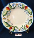 Fitz And Floyd - 2006 RICAMO MOTIF - Large Soup Bowl 10