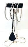 GIVENCHY & Silver - 3 Tennis Bracelets & 15