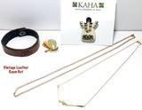 Vintage Maui KAHA Pin,  Butterfly Pin & 2 Goldtone Neckless