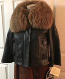 PETER NYGARD 100% Leather Coat Detachable Fox Fur Collar NEW WITH TAGS $498 - Sale $298.