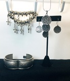 Brighton? Jewelry Mix Antiqued Silver, Charms, Bracelet, Filigree Set