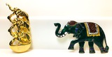 Sterling Enamel & Les Bernard Elephant Pins