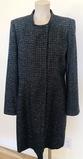 Wool Blend Size 8 Black - White Coat.