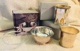 2 Mint Julep Cups by Dolfinger's - Gorham Paul Revere Bowl