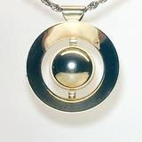 Modernist Silver Tone Orb - Saturn